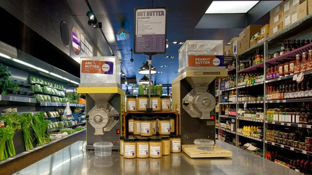 Customers buy more nut butter in health food stores when they can see that is is fresh